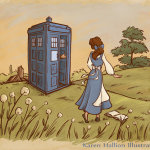 Belle and Doctor Who by Karen Hallion