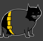 Batcat shirt by The Oatmeal