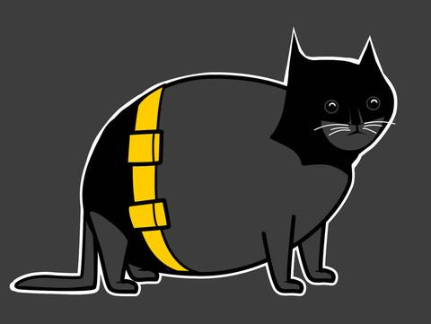 Batcat shirt by The Oatmeal