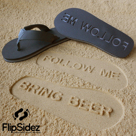 Flip flops with a message!
