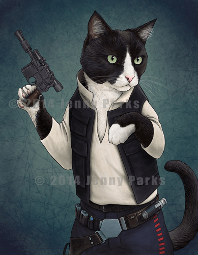 Han-Solo-Cat-Art-Jenny-Parks