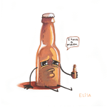 I-have-a-problem-elisa-wikey-art-beer-drinking-beer