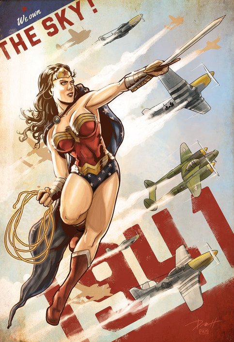 Wonder-Woman-1941-War-Art-Paul-Roman-Martinez