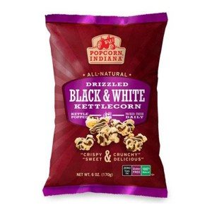 Popcorn Indiana Drizzled Black & White Kettlecorn