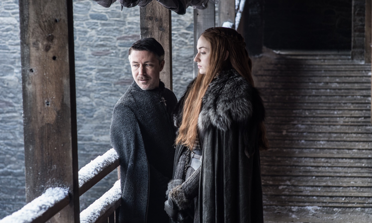 Petyr: She'll love me one day. Sansa: I wonder what the inside of his skull looks like.