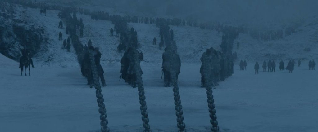 The Night's King can't wait to show the southroners his big chains. They don't have chains this big.